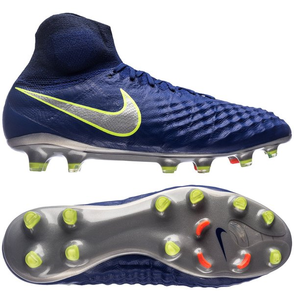 Nike Magista Obra II FG Time To Shine Bleu MarineChromeOrange