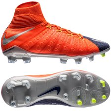 Nike Hypervenom Phantom 3 DF Time To Shine Navy/Chrome/Orange Børn