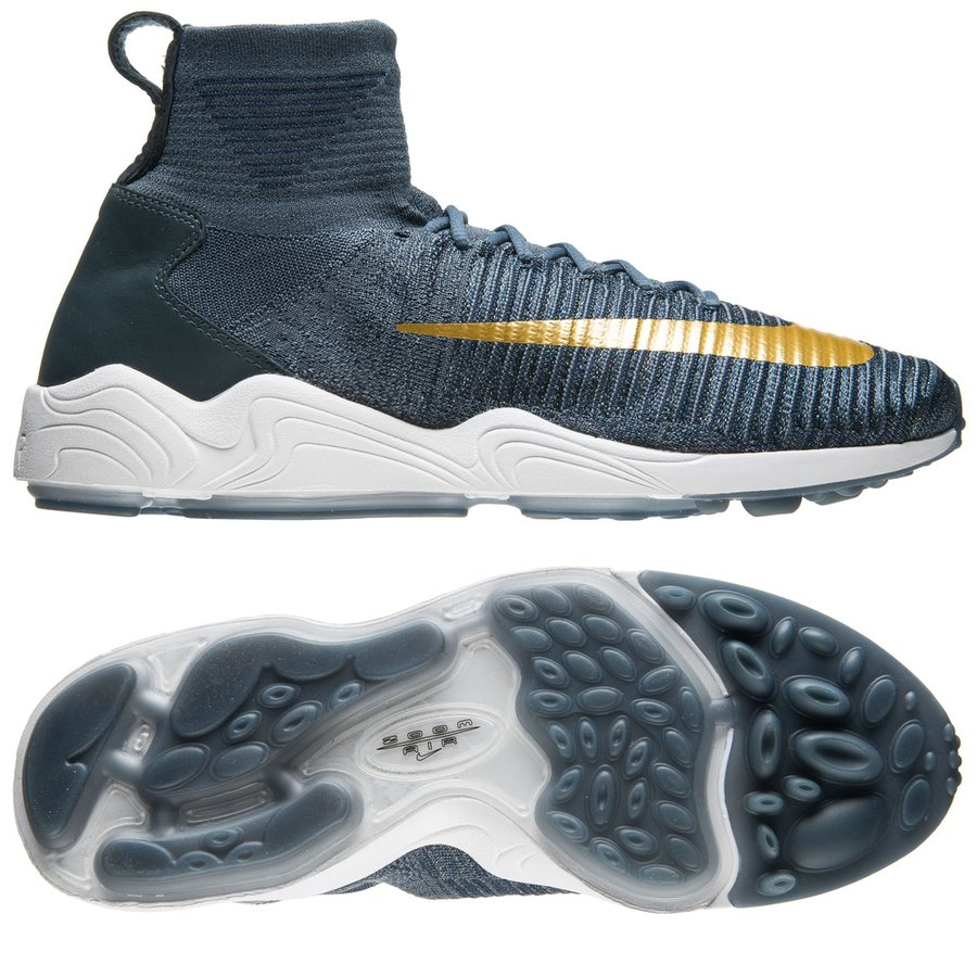 nike f.c. zoom mercurial xi flyknit - blue fox metallic gold coin college  navy ... f1de20874