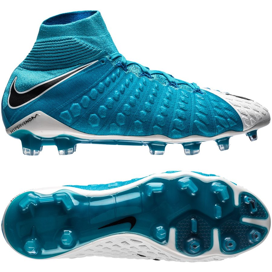 f9e4d9e92f62 Nike Hypervenom Phantom 3 DF FG Motion Blur - White Black Photo Blue ...