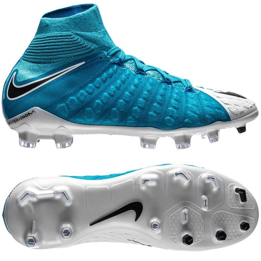 0342b3cf Nike Hypervenom Phantom 3 DF FG Motion Blur - White/Black/Photo Blue Kids |  www.unisportstore.com