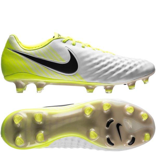 sports shoes b978a 4bc08 Nike Magista Opus II FG Motion Blur - Blanc Jaune Fluo Gris 0