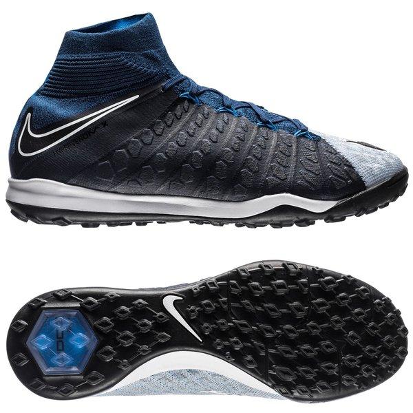 Nike HypervenomX Proximo II DF TF Nike HypervenomX Proximo 2 DF TF Motion Blur - Brave Blue/Photo ...