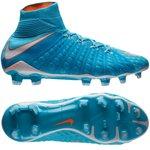 Nike Hypervenom Phantom 3 DF FG Motion Blur - Polarized Blue/White/Chlorine Blue Woman