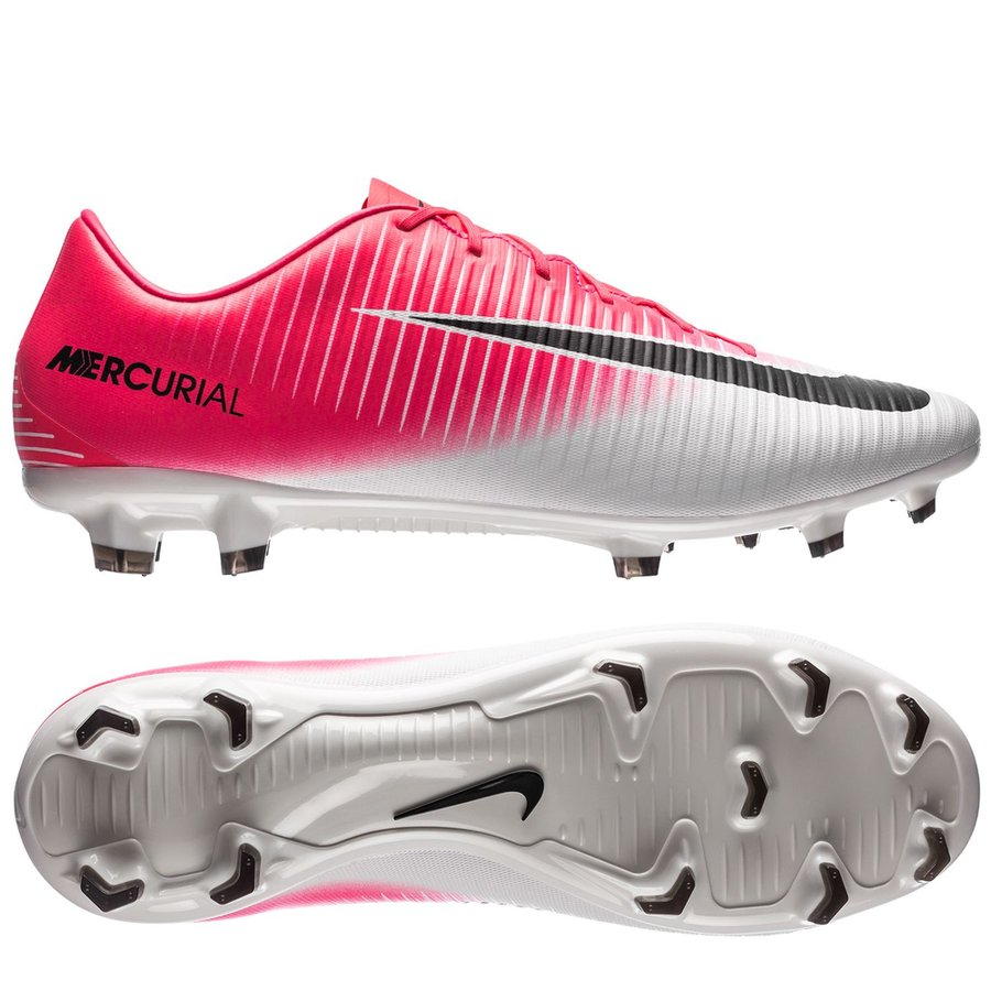 Nike Mercurial Veloce Iii Fg Motion Blur Rose Noir Blanc