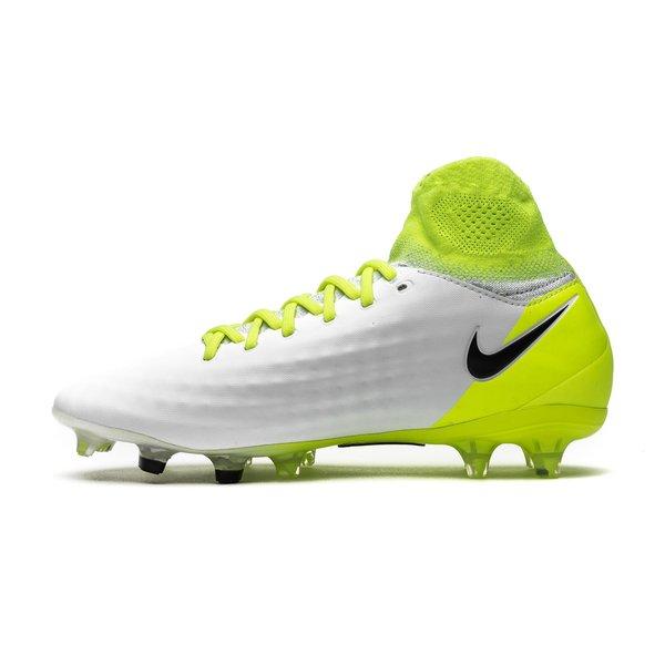 détaillant c149a 55f5d Nike Magista Obra II FG Motion Blur - Blanc/Jaune Fluo/Gris ...