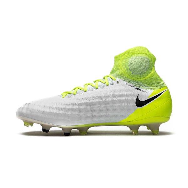 pretty nice 77543 47e3f Nike Magista Obra II FG Motion Blur - Blanc Jaune Fluo Gris 1
