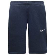 nike shorts club swoosh - navy/hvid - træningsshorts