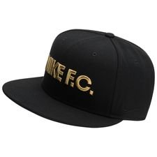 nike f.c. cap snapback true - black/metallic gold - caps