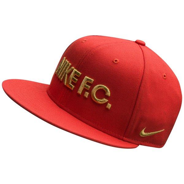 2c015ea95 Nike F.C. Cap Snapback True - Track Red/Black/Metallic Gold | www ...
