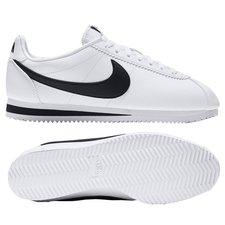 nike classic cortez skind - hvid/sort - sneakers