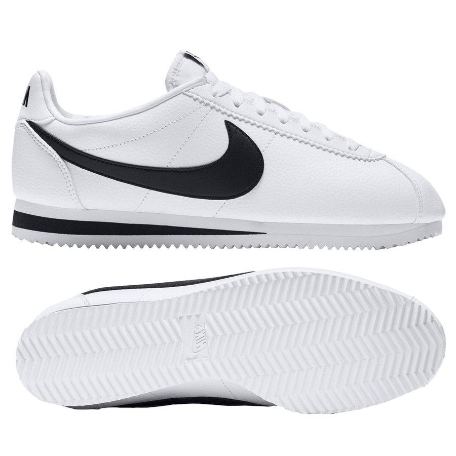 online store 0ec53 c05ea nike classic cortez läder - vit svart - sneakers ...