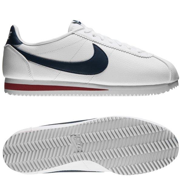 Nike Classic Cortez Cuir BlancBleu MarineRouge
