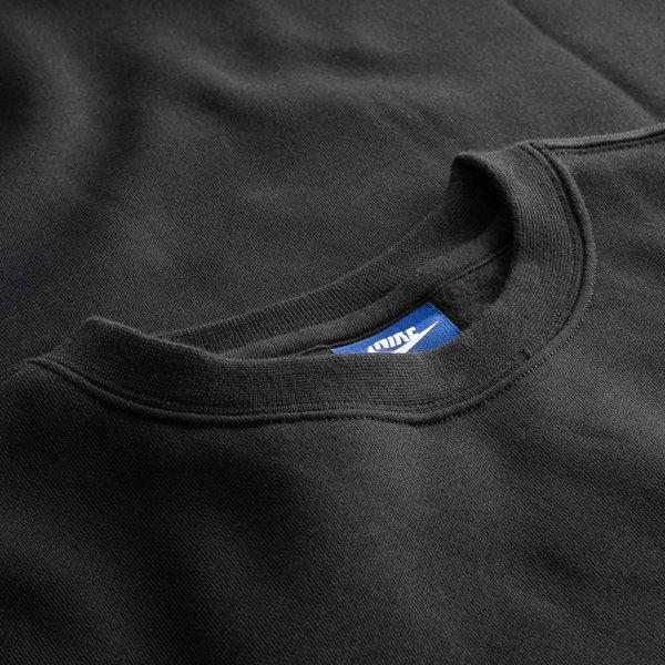 52fccaf33e63 ... nike sweatshirt nsw crew fleece - black white - sweatshirts ...