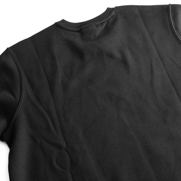 648352e36711 ... nike sweatshirt nsw crew fleece - black white - sweatshirts