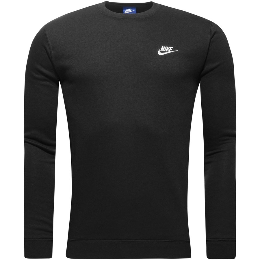 Nike Sweatshirt NSW Crew Fleece - Sort/Hvid thumbnail