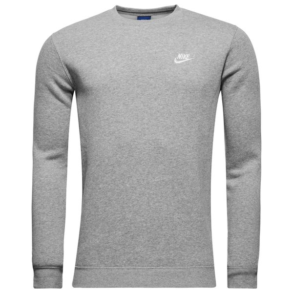 Nike Sweatshirt NSW Crew Fleece GrauWeiß