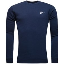 nike sweatshirt nsw crew fleece - navy/vit - sweatshirts