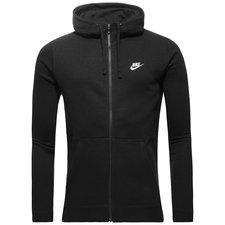nike sportswear hættetrøje fleece - sort/hvid - hættetrøjer