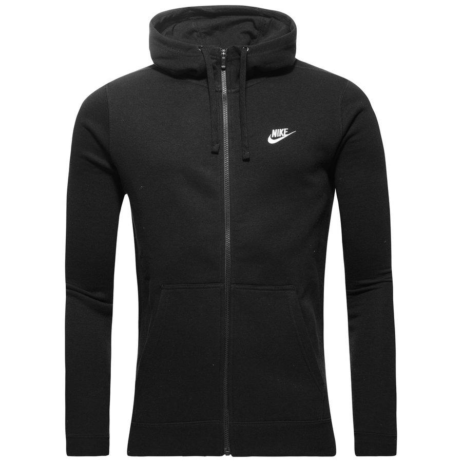 Nike Sportswear Hættetrøje Fleece - Sort/Hvid thumbnail