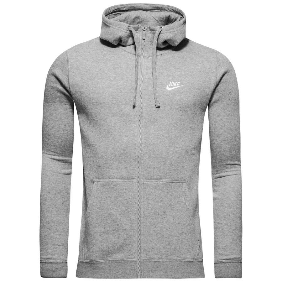 Nike Sportswear Hættetrøje Fleece - Grå/Hvid thumbnail