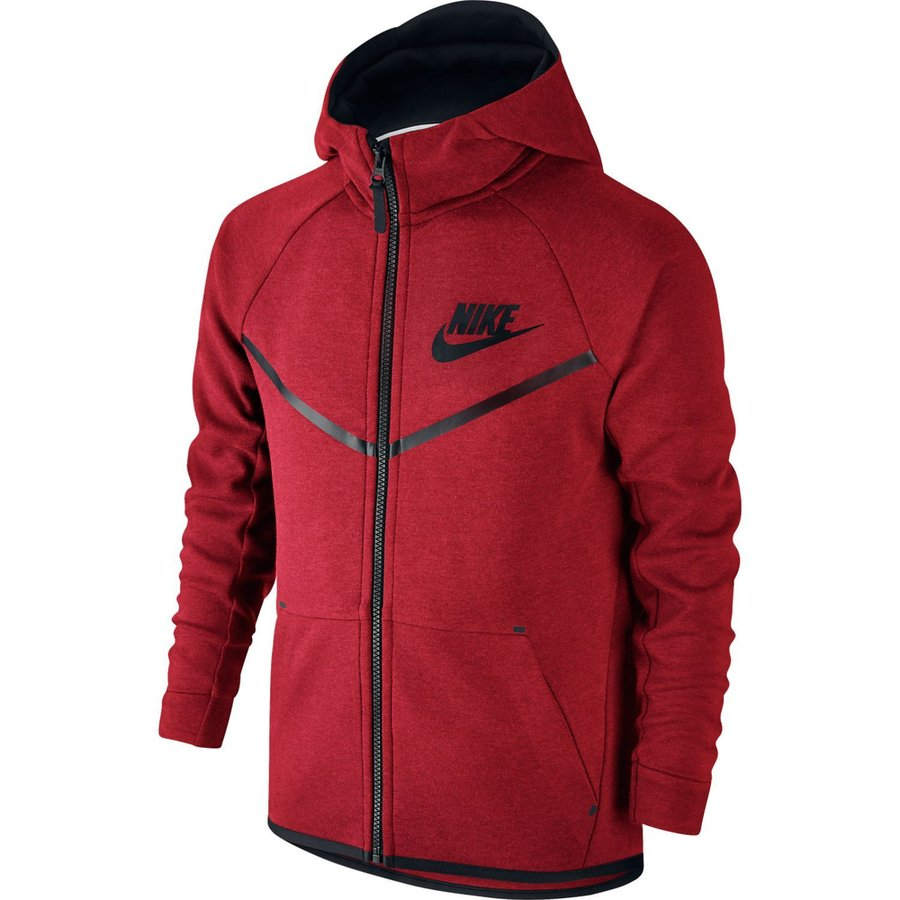 a8aae54bc6c4 nike hoodie fz tech fleece - track red black kids - hoodies ...