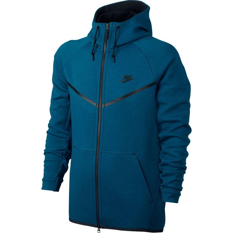 Nike Luvtröja Tech Fleece FZ BlåSvart Dam