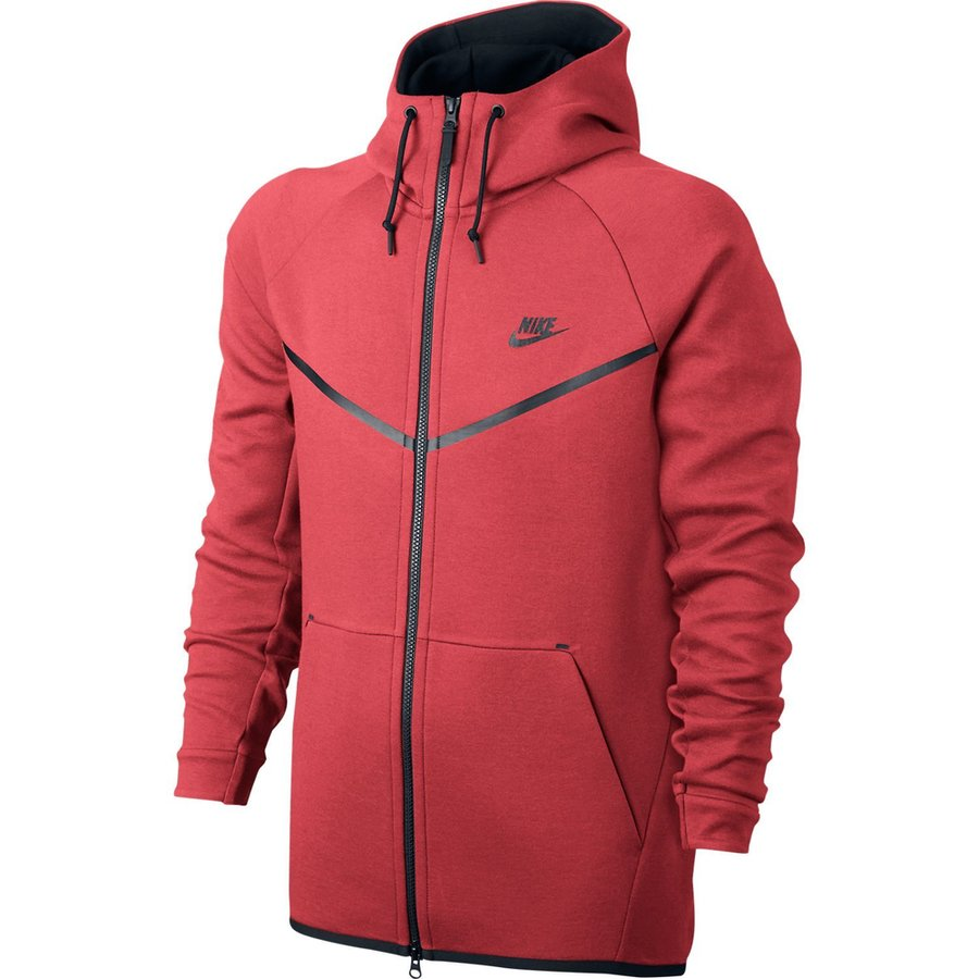 70b4af727cb9 nike tech fleece windrunner fz - track red black - hoodies ...