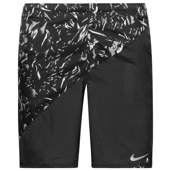 nike shorts flex aop - sort børn - træningsshorts