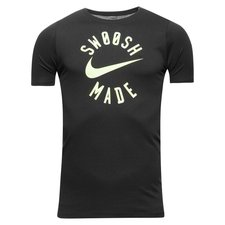 nike t-shirt swoosh made - sort børn - t-shirts