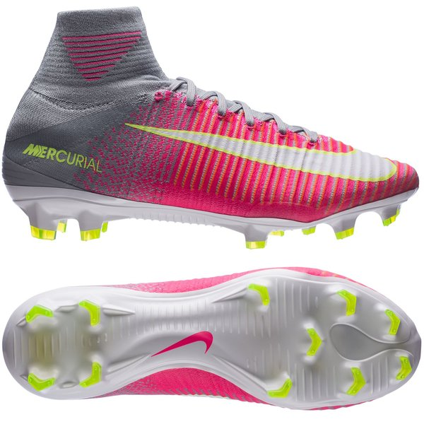 Nike Mercurial Superfly V FG Motion Blur - Pink/Grau Damen | www ...