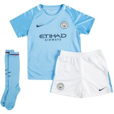 manchester city home shirt 2017/18 mini-kit kids - football shirts
