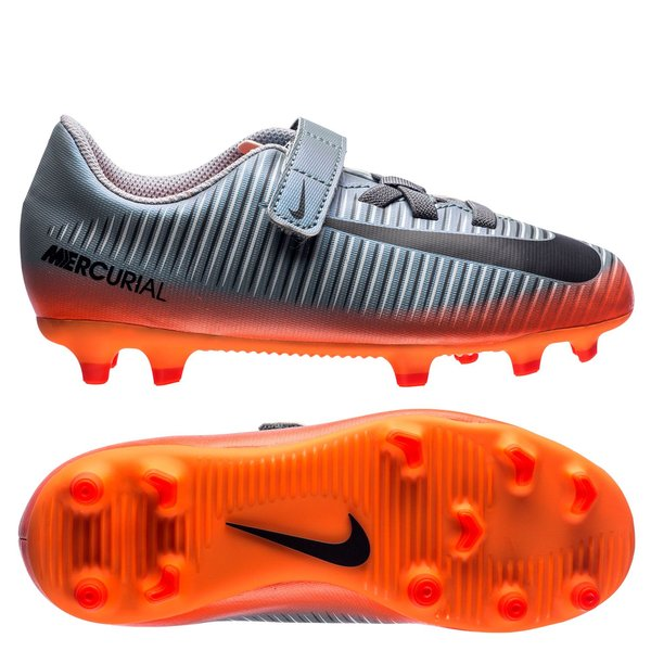 chaussure foot enfant nike grise