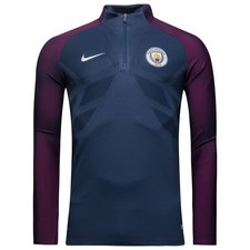 manchester city training shirt aeroswift strike drill - midnight navy/true berry - training tops