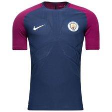 manchester city training t-shirt aeroswift strike - midnight navy/true berry - training tops