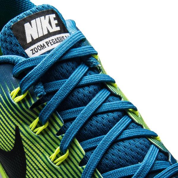 ... nike running shoe air zoom pegasus 34 - industrial blue/black/volt -  running ...