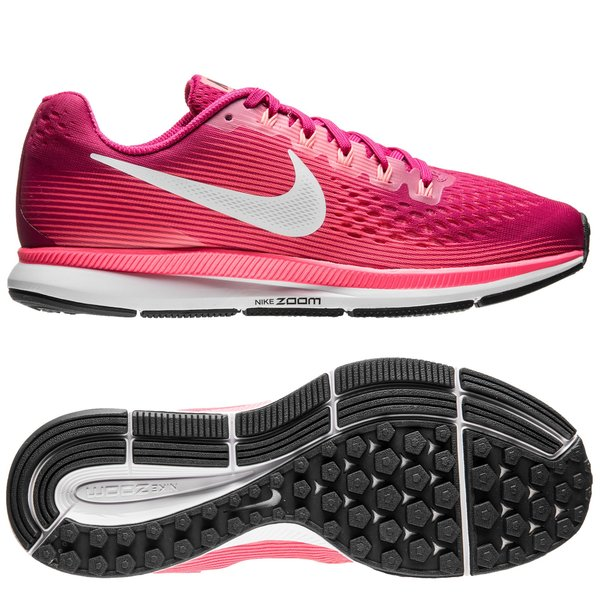 a53e8fc2275a3 Nike Løbesko Air Zoom Pegasus 34 - Rosa Hvid Orange Pink Kvinde ...