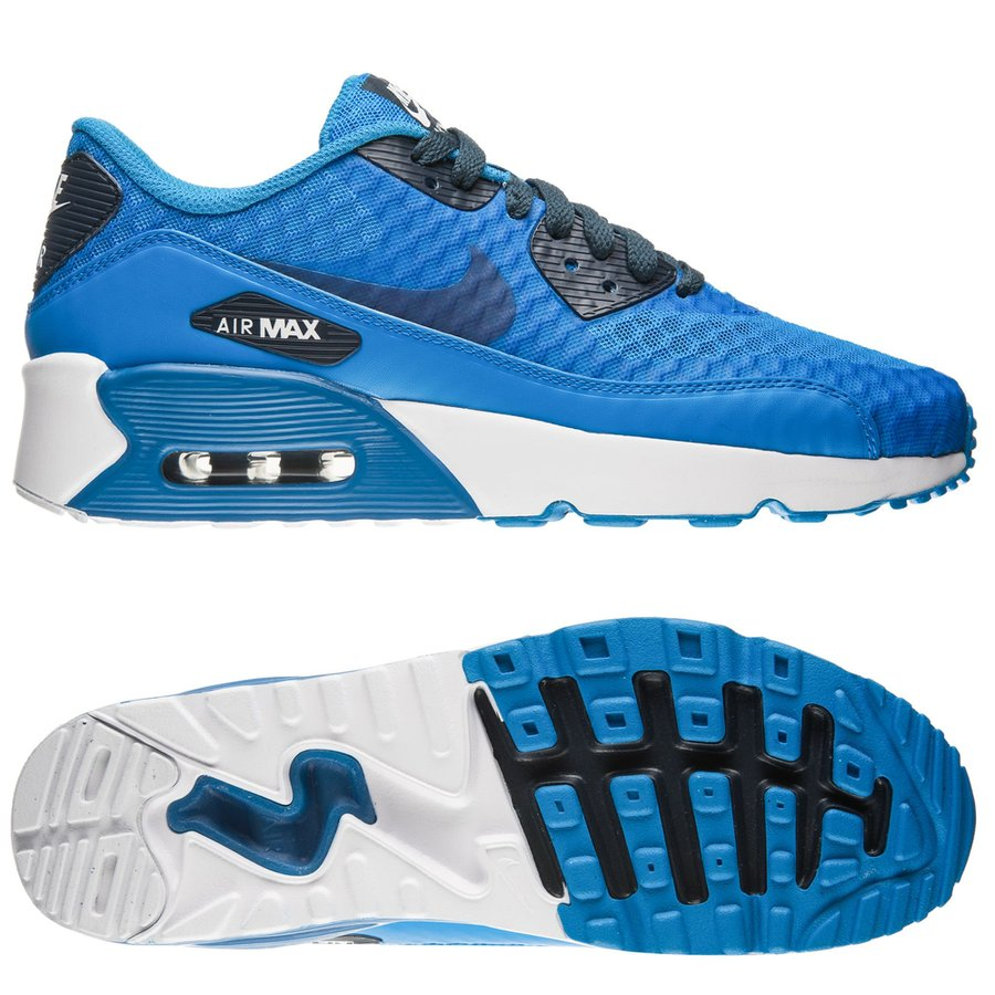 huge selection of f4f2e 9f91b ... get nike air max 90 ultra 2.0 br blå hvid børn sneakers d6a21 4fb79