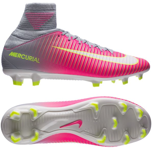 Nike Mercurial Veloce III DF FG Motion Blur PinkGrau