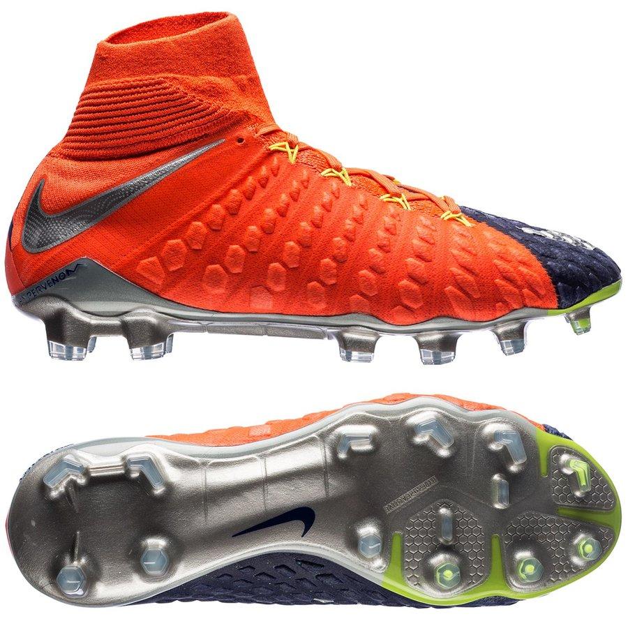 Nike Hypervenom Phantom Orange, Blå Græs (FG) Mænd