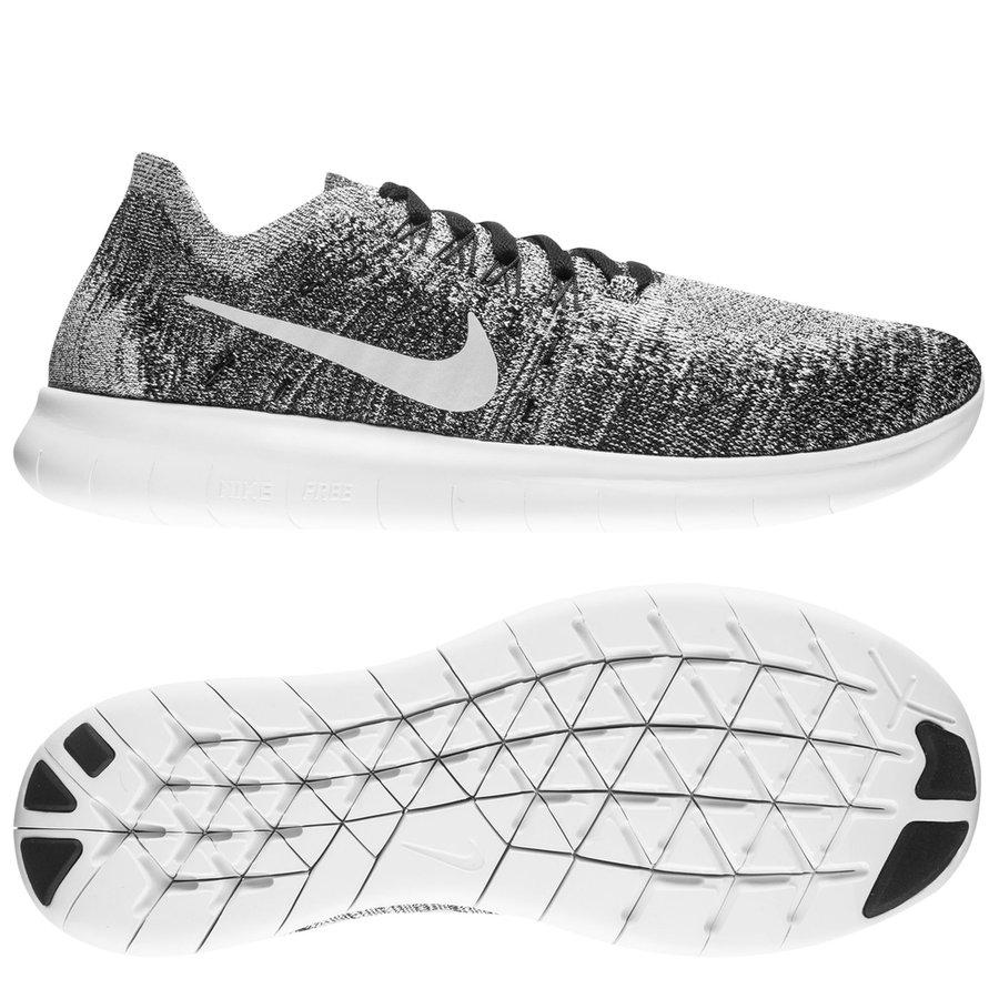 Nike Free RN Flyknit 2017 - Black/Grey/White Kids