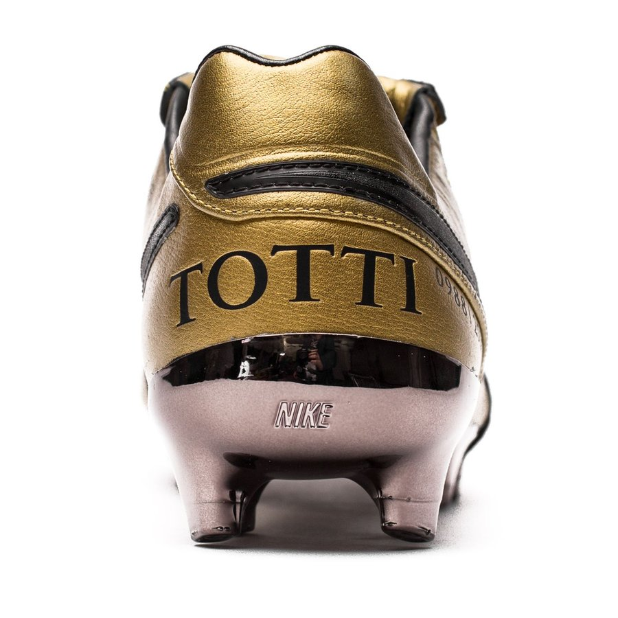 nike tiempo legend 6 fg totti x roma gold schwarz rot limited edition. Black Bedroom Furniture Sets. Home Design Ideas