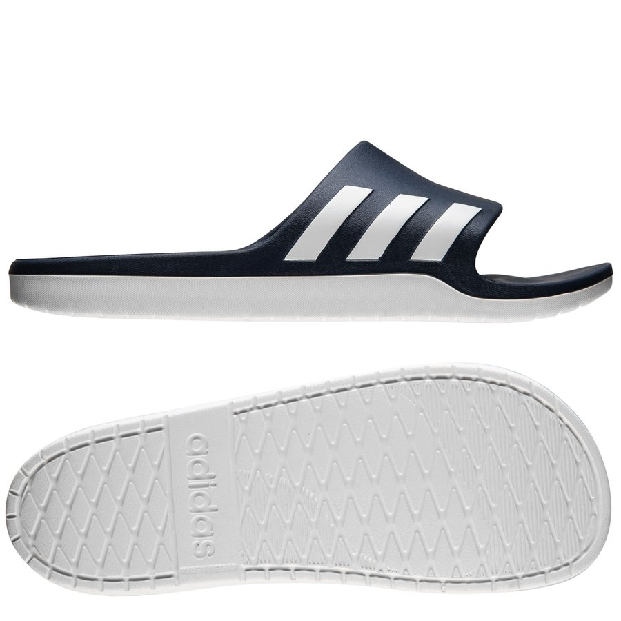 the best attitude 38f10 397a8 adidas slide aqualette cloudfoam - navy white - sandals ...