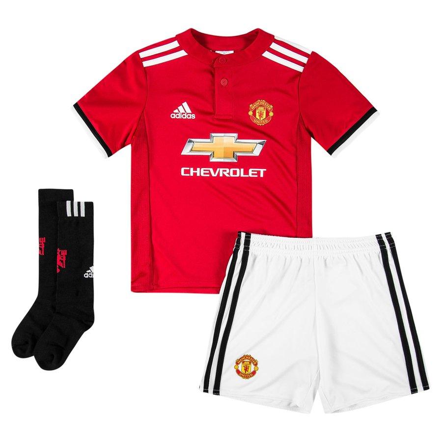 manchester united home kit 2017 18 mini-kit kids - football shirts ... af2bd5011