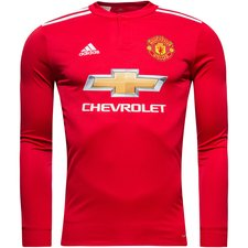 manchester united home shirt 2017/18 l/s kids - football shirts