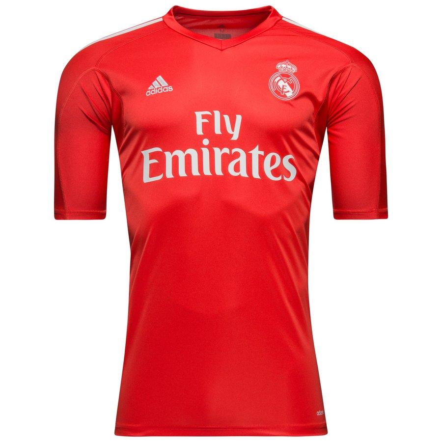 new styles 78fa2 e9231 Real Madrid Goalkeeper Shirt 2017/18 Red | www.unisportstore.com