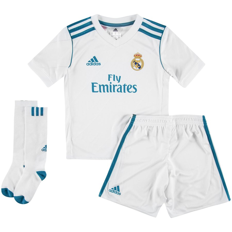 Real Madrid Home Shirt 2017 18 Mini-Kit Kids. Read more about the product.  - football shirts. - football shirts image shadow 870be0960
