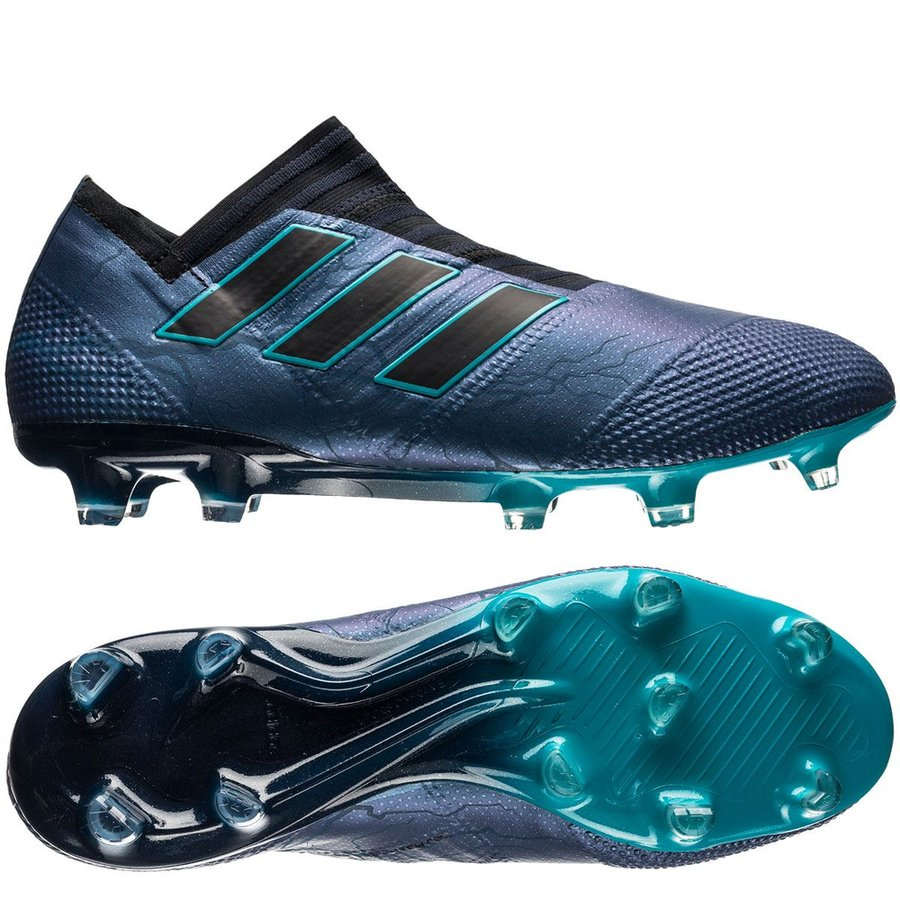 the latest 360b3 becaf ... svart fotballsko outlet salg adidas nemeziz  adidas nemeziz 17+ 360agility  fg ag thunder storm core black energy blue
