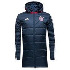 Image of   Bayern München Vinterjakke Player - Navy/Hvid