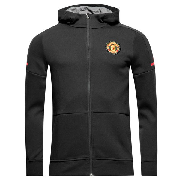 manchester united sweat capuche domicile anthem squad noir enfant. Black Bedroom Furniture Sets. Home Design Ideas